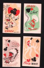 Vintage Playing card whist score cards  nice designs  #015